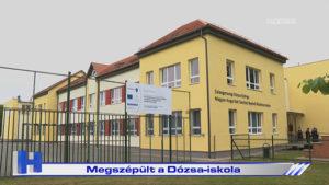 Megszépült a Dózsa-iskola