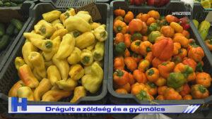 Híradó: Drágult a zöldség és a gyümölcs