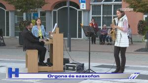 Orgona és szaxofon