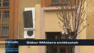 Gábor Miklósra emlékeztek