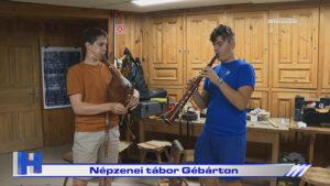 Népzenei tábor Gébárton