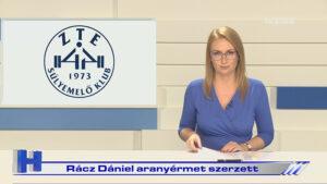 Híradó: Rácz Dániel aranyérmet szerzett